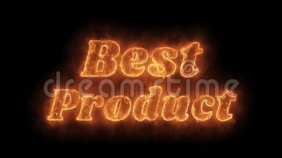 Best Product Word Hot Animated Burning Realistic Fire Flame Loop vector illustratie