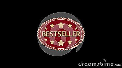 best-seller Geanimeerde ovale bloemmarkering Uitstekend etiket royalty-vrije illustratie