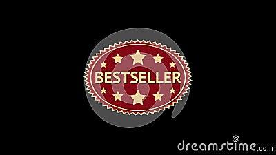 best-seller Geanimeerde ovale stermarkering Uitstekend etiket stock illustratie