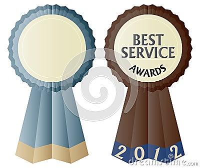 The Best Service Awards Ribbon Illustration