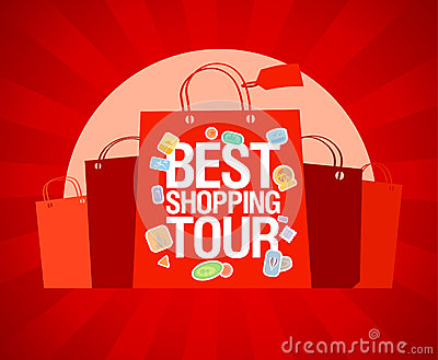 Best shopping tour design template.