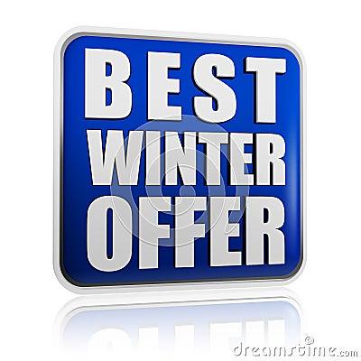 Best winter offer banner