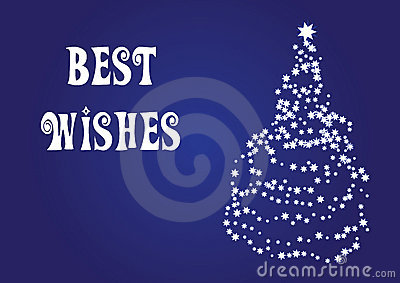 Best wishes, christmas vector card