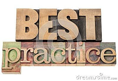 Beste praktijken in houten type