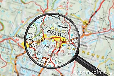 Bestemming - Oslo (met vergrootglas)
