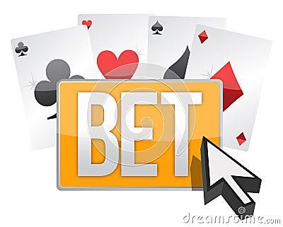 Bet button and cursor