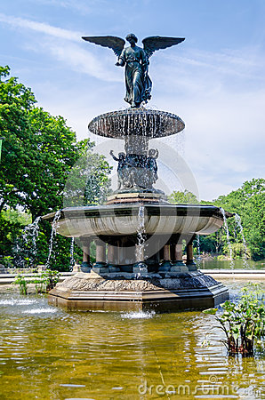 Bethesda Fountain in Central Park,