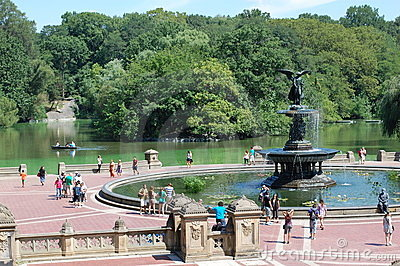 Bethesda Terrace in Central Park, New York City Editorial Stock Photo