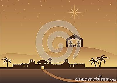 Bethlehem Christmas background