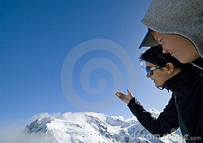 Betrachten Sie Mont Blanc