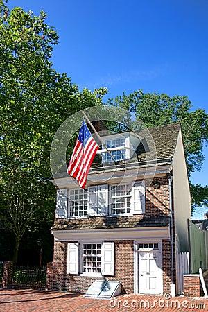 Betsy Ross House in Old Philadelphia Pennsylvania