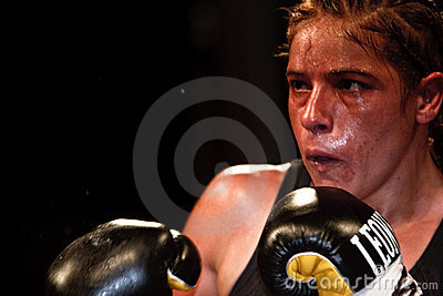 Bettina Garino - WBA World match Editorial Stock Photo