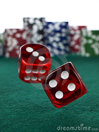 Free Betting With Dices Royalty Free Stock Photography - 9590297