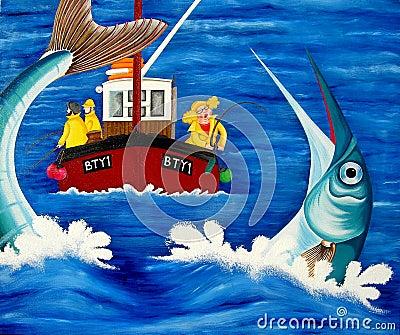 Betty goes Sea Fishing