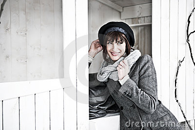Beuatiful Woman In Winter Clothes