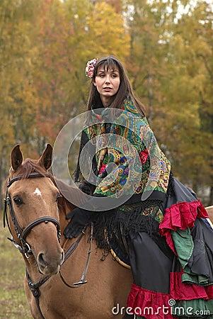Free Beuatiful Young Girl On Horseback Royalty Free Stock Photo - 11326565