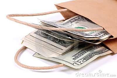 Beutel des Geldes