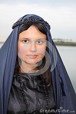 Beutiful woman in black