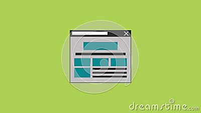 Beveilig het navigeren browser HD animatie stock illustratie