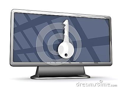 Beveilig televisie Met groot scherm
