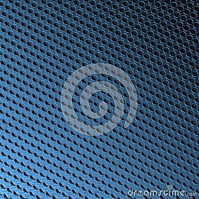 Bevel spots on blue