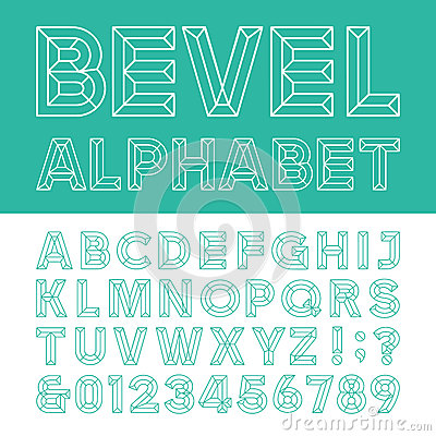 Beveled Alphabet Vector Font Stock Vector Image 55720578