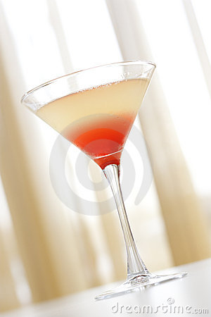 Beverage in Martini Glass