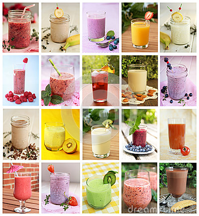 Free Beverages Collage Stock Photography - 39540032
