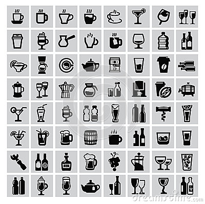 Free Beverages Icons Stock Photography - 33568702