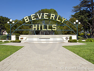 Beverly Hills Editorial Stock Photo