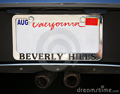 Beverly Hills Car license plate