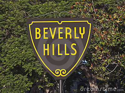 Beverly Hills Sign Editorial Stock Photo