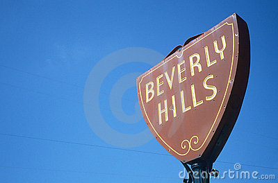 Beverly Hills sign, Los Angeles, CA