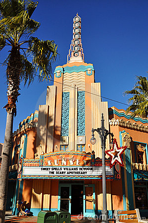 Beverly Sunset Theater in Disney Hollywood Studios Editorial Image