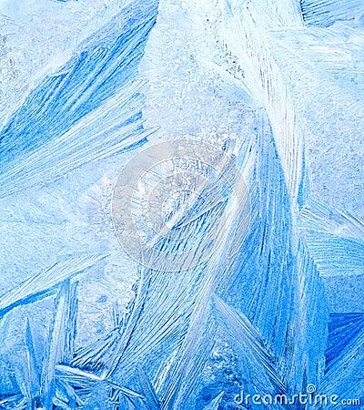 Bevroren water op glas