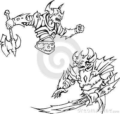 Bewaffnete Monster