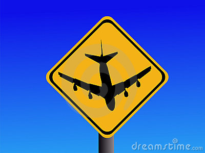 Beware airport sign