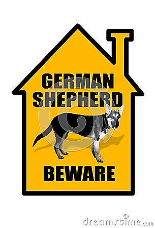 Beware Of German Shepherd Sign