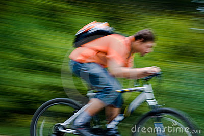 Bewegung der Radfahrer