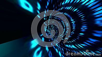 Bewegungen mit Matrixart Strömen von Turbulenz der digitalen Daten Entschließung 4K lizenzfreie abbildung