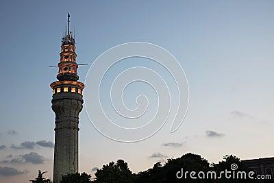 Beyazit Tower At Night Time Stock Photo - Image: 56909324
