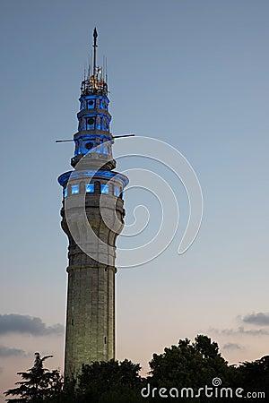 Beyazit Tower At Night Time Stock Photo - Image: 56910584
