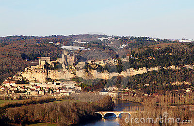 Beynac Castle and the Dordogne River in France