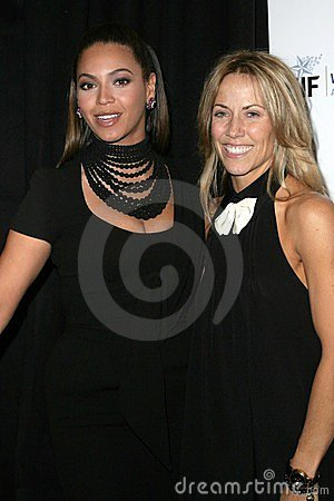Beyonce Knowles, Sheryl Crow Editorial Stock Image