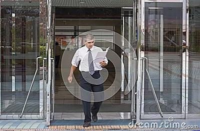 Bezige zakenman