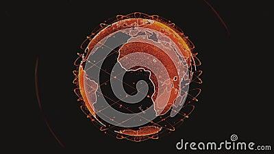 Bezprzewodowa łączność internetowa z danymi wifi przez globalny system satelitów telekomunikacyjnych w koncepcji renderowania 3D ilustracji