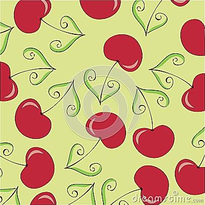 Bezszwowa wiśni tapeta