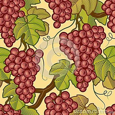 Bezszwowi tło winogrona