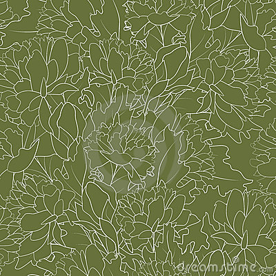 Bezszwowy kwiatu kontur