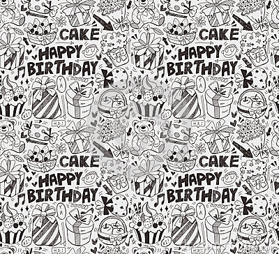 Bezszwowy urodziny wzór